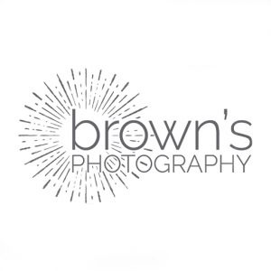 brown's photography logo, wedding and newborn photogrpahy glasgow business