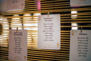 RocknRoll Wedding Stationery at Glasgow City Wedding
