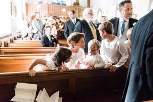 children at wedding-church wedding in scotland