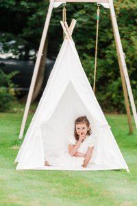 summer tipi wedding in scotland-child in tipi portrait-children's portrait-children at weddings