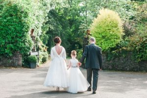OUtdoor wedding ceremony in Roman Camp, Callander