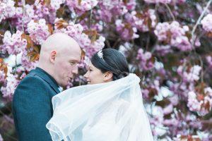 Spring CHerry Blossom at Glasgow Wedding