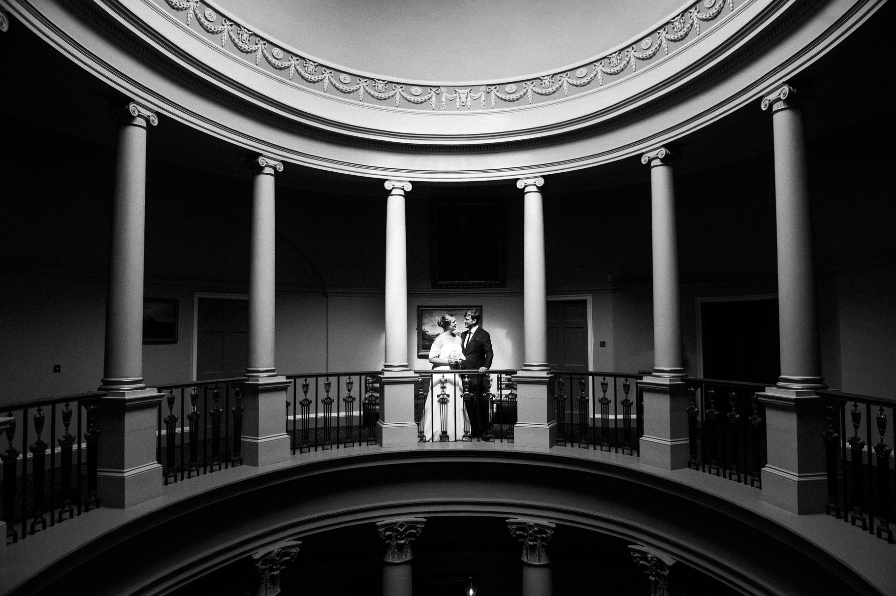 Black and White Elopement in Culzean Castle