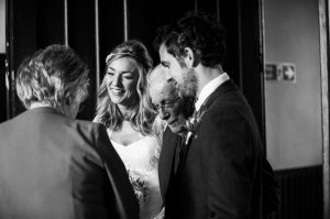 Documentary Black and White wedding photographs at Mar Hall