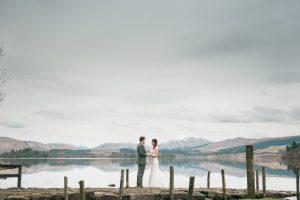 HIghlands and Islands Wedding by Loch in Scotland