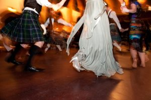 Dancing at Wedding in Scotland