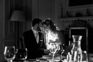 Black and White wedding photohy in Pollok House in Glasgow
