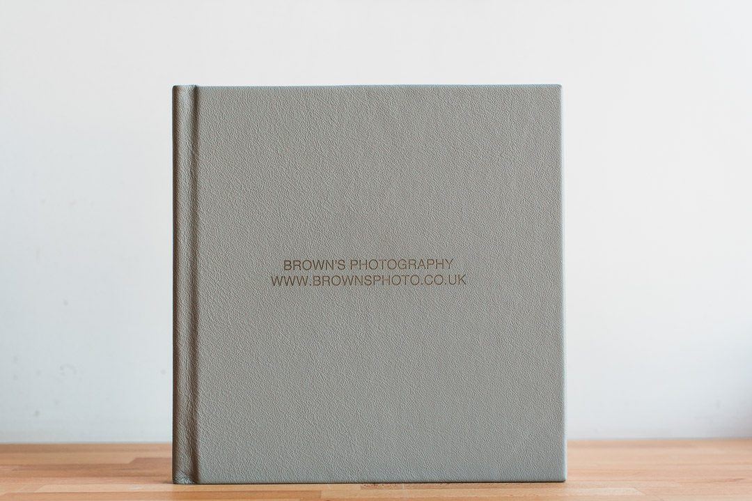 Luxury Leather Fine Art wedding album from Folio