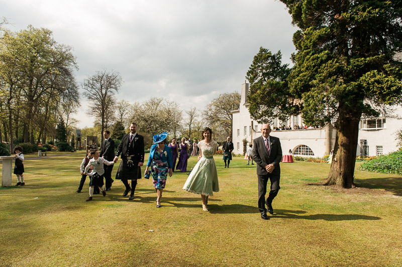 House For An Art Lover Wedding in Bellahouston Park, Glasgow