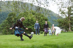 wedding guests at Monachyle Mhor