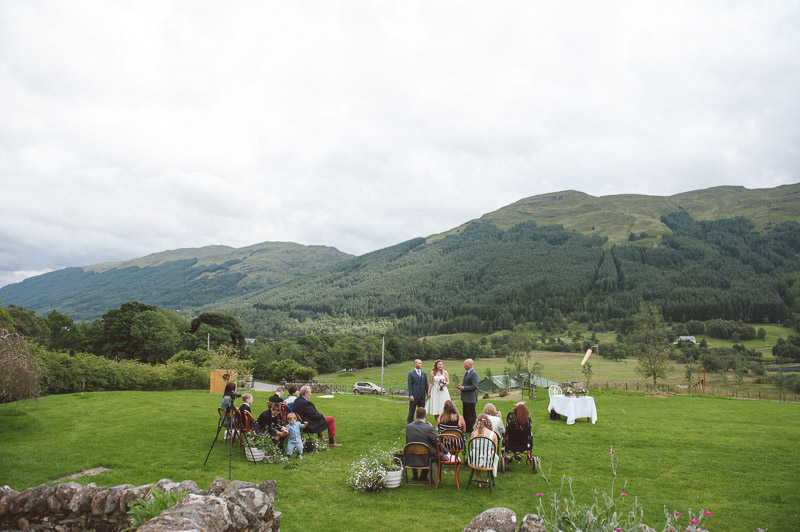 Outdoor humanist wedding ceremony in Scotland