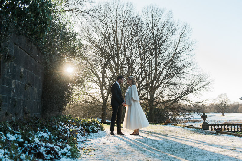 Winter wedding in Pollok Park at Pollok House in Glasgow