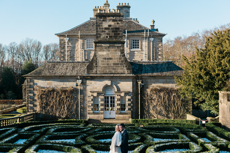Pollok House Wedding in the library