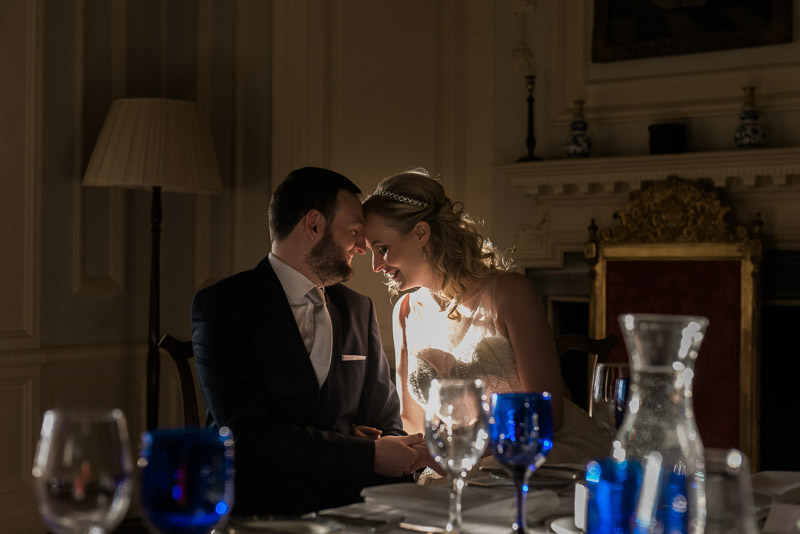 bride and groom portrait in Pollok House, Pollok House wedding, documentary wedding photography glasgow