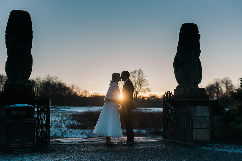 Pollok House Wedding in Winter