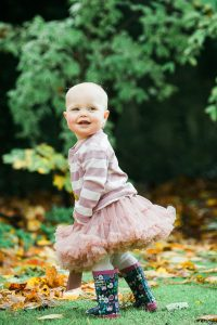 baby's birthday photography, child in autumn leaves, little girl in tutu, toddler photo session glasgow