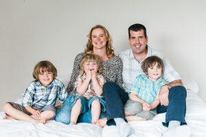 happy family photo, family laughing, informal family photo