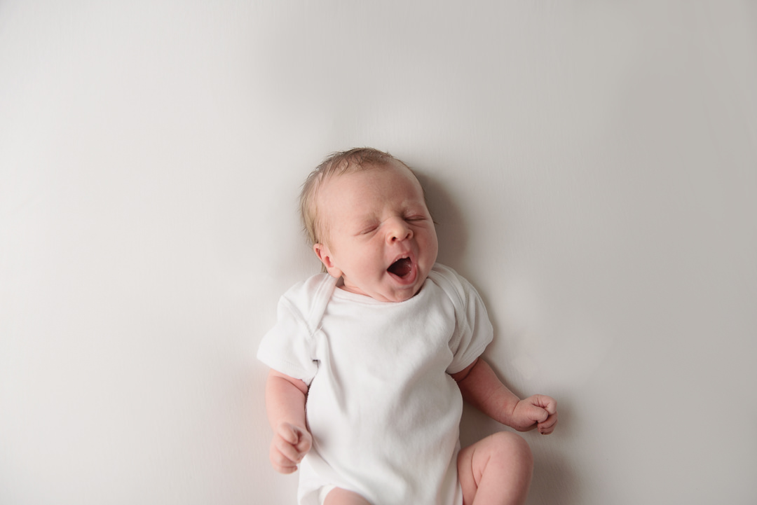 Newborn Baby Photography Glasgow, Newborn Baby yawning