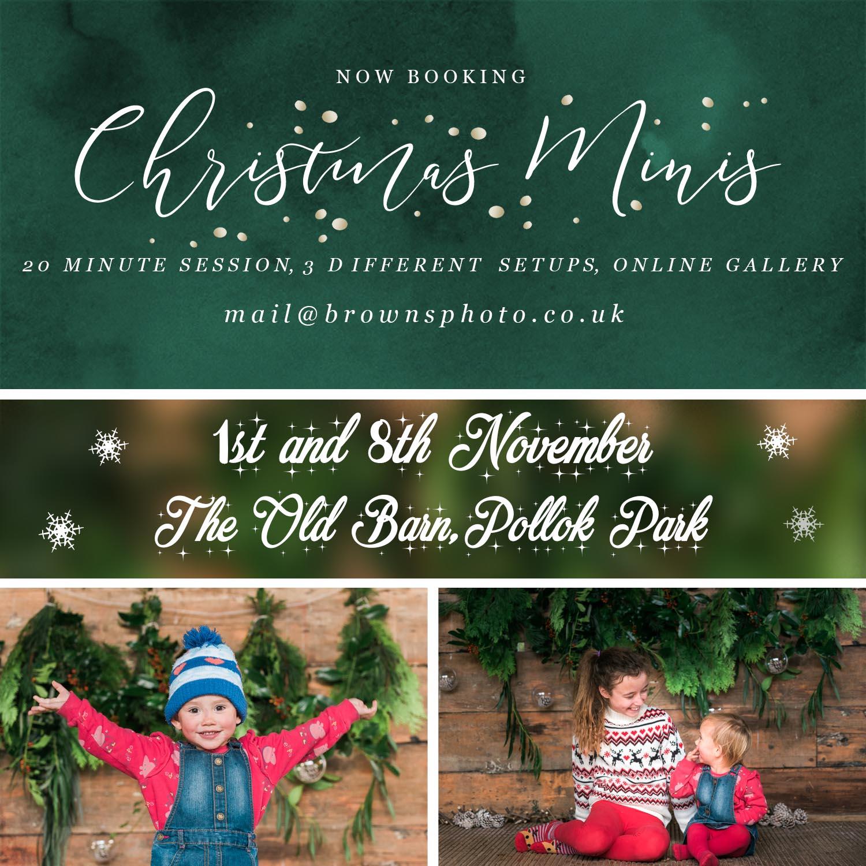 Christmas Mini Sessions Glasgow
