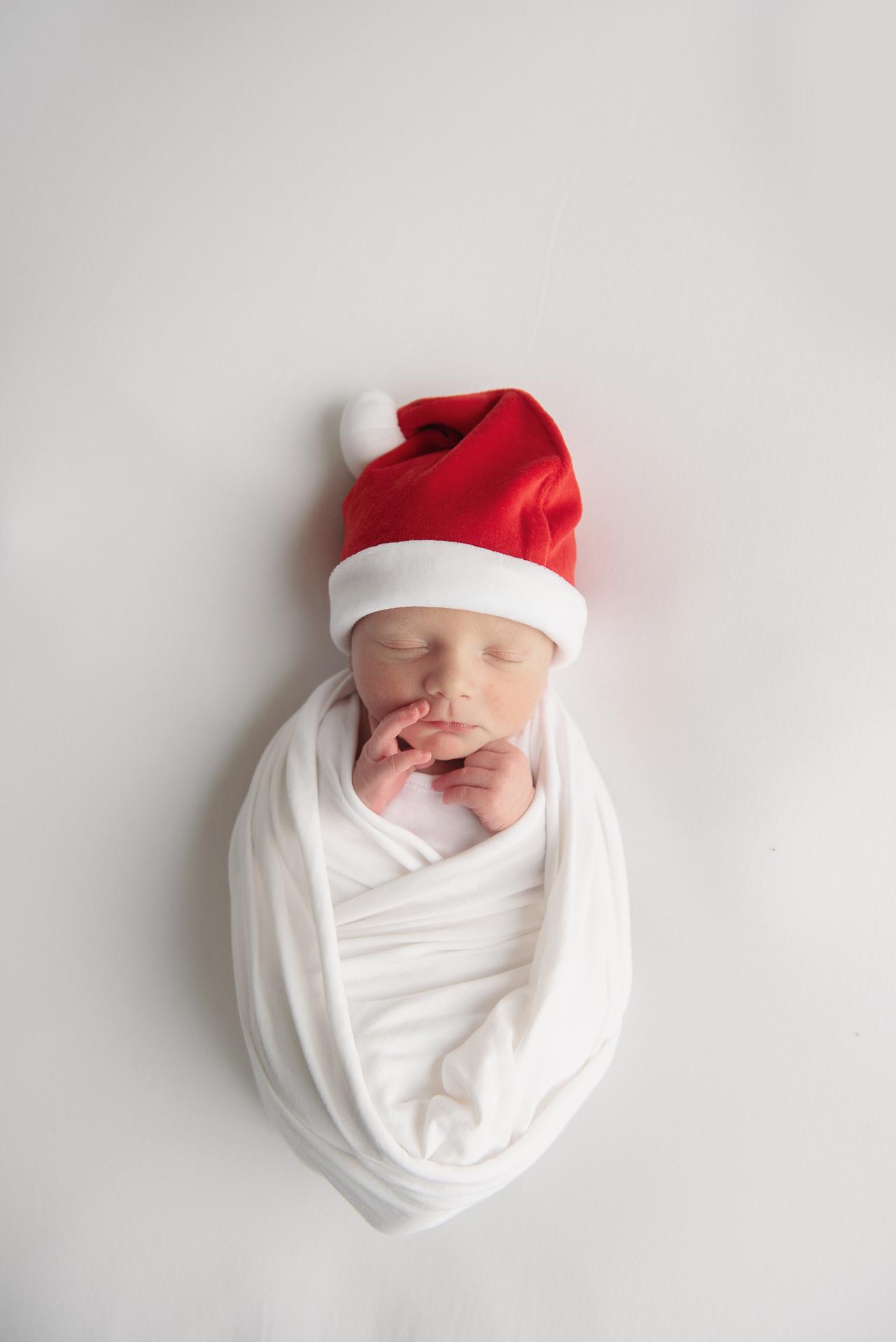 Newborn in Santa Hat
